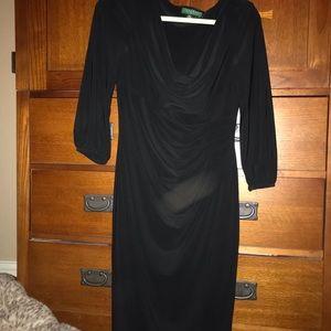 Ralph Lauren ruched dress